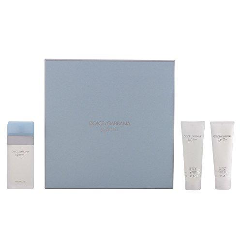 Dolce-Gabbana-Light-Blue-Geschenkset-femme-woman-Eau-de-Toilette-Vaporisateur-Spray-50-ml-Bodycreme-50-ml-Duschgel-50-ml-1er-Pack-1-x-150-ml-0