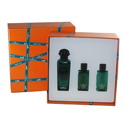 eau d 39 orange verte for men von hermes 3 stk geschenk set eau de cologne spray 3 3 oz 100. Black Bedroom Furniture Sets. Home Design Ideas