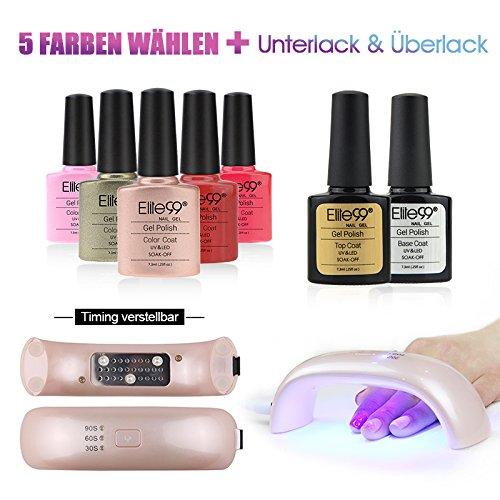 Elite99-Nagellack-Set-Farblack-UV-Lampe-5-Farblack-Nagelstudio-Sets-1X-UV-Lampe-fuer-naegellack-5x-Farblack-1x-UnterlackBase-Coat-1x-UeberlackTop-Coat-0