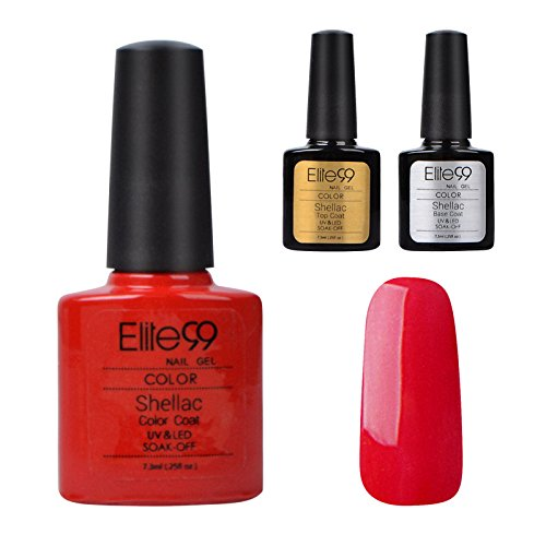Elite99-Shellac-UV-LED-Gel-auflsbarer-Nagellack-Rot-Tiefrot-Base-Coat-Top-Coat-Nagelgel-Farbgel-Farblack-3-x-73ml-0