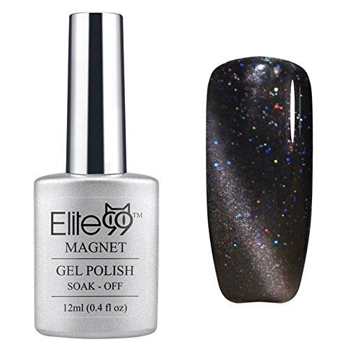 Elite99-UV-LED-Cat-Eye-3D-Farbe-Nail-Gel-auflsbarer-Nagellack-Shimmer-Dark-Grey-6594-12ml-C-0