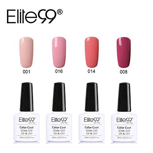 Elite99-UV-Nagellack-Nail-Gel-Polish-Farbgel-Nagelgel-Gelish-Nudefarben-4x-Stck-0-0