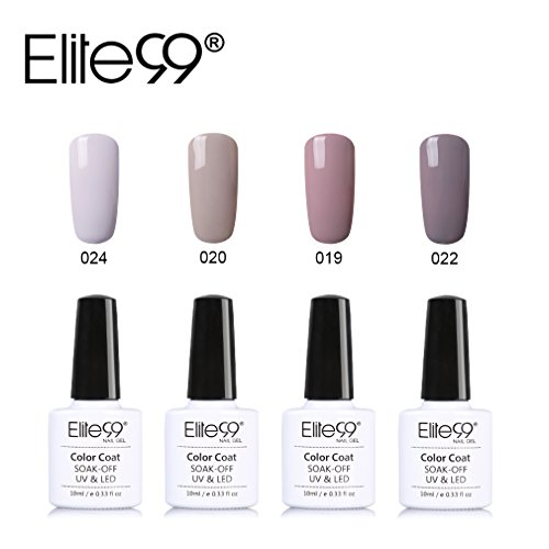 Elite99-UV-Nagellack-Nail-Gel-Polish-Farbgel-Nagelgel-Gelish-Nudefarben-4x-Stck-0
