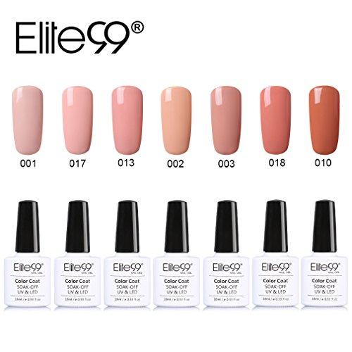 Elite99-UV-Nagellack-Nail-Gel-Polish-Farbgel-Nagelgel-Nudefarbe-Gelish7x-Stck-0