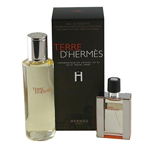 Herms-Terre-Set-30-ml-Eau-de-Toilette-nachfllbares-Travelspray-125-ml-Nachfllung-1er-Pack-1-x-155-ml-0