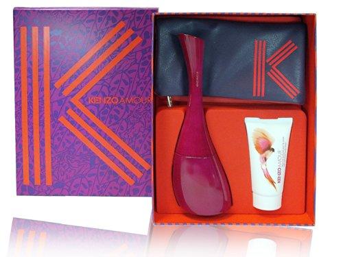Kenzo-Amour-woman-3-Teile-Set-100ml-Eau-de-Parfum-Spray-50ml-Creamy-Body-Milk-Kleine-Geldtasche-0