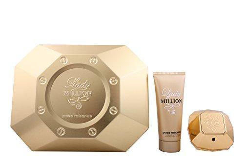 Paco-Rabanne-Lady-Million-Set-femme-woman-Eau-de-Parfum-Vaporisateur-Spray-80-ml-Bodylotion-100-ml-1er-Pack-1-x-180-ml-0
