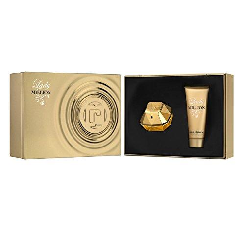Paco-Rabanne-Lady-Million-Set-femme-women-Eau-de-Parfum-Vaporisateur-Spray-80-ml-Bodylotion-100-ml-1er-Pack-1-x-180-ml-0