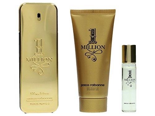 Paco-Rabanne-One-Million-Set-hommemen-Eau-de-Toilette-VaporisateurSpray-100-ml-Duschgel-100-ml-Miniatur-Eau-de-Parfum-15-ml-1er-Pack-1-x-215-ml-0
