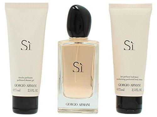 Giorgio Armani Si giftset, Eau de Parfum spray, shower gel, body lotion, 1er Pack (1 x 250 g)