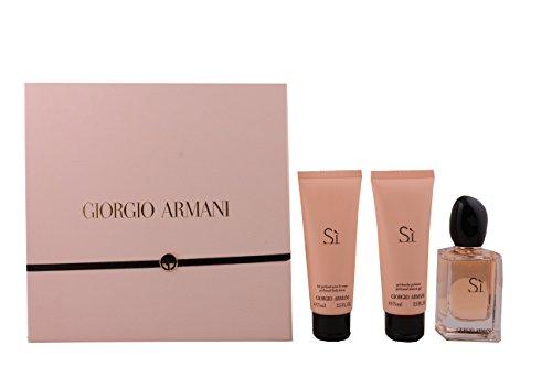 Giorgio Armani Si Set, 50 ml Eau de Parfum + 75 ml Bodylotion + 75 ml Duschgel