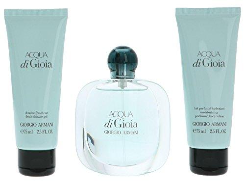 Giorgio Armani Acqua di Gioia giftset, Eau de Parfum spray, shower gel, body lotion, 1er Pack (1 x 200 ml)