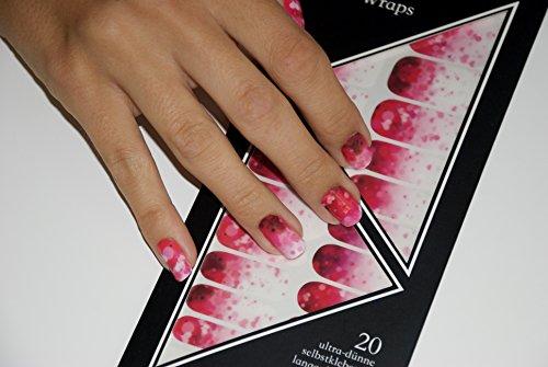 Miss Sophie S Rosa Pink Ombre Nagel Folien Heart Blush Nagel Design
